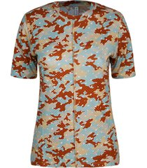 summum 3s4506-30224 285 top short slv camou print on jersey terra