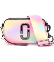 the marc jacobs model the snapshot airbrush shoulder bag in saffiano multicolor leather