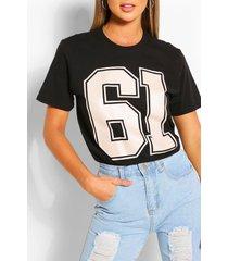 61 collegiate t-shirt, black