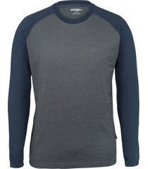 wolverine men's brower long sleeve tee slate blue heather, size l