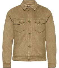 anf mens outerwear jeansjack denimjack bruin abercrombie & fitch