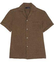 'gian' linen cotton blend cuban shirt