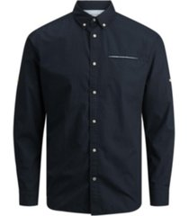 jack & jones men's long sleeve woven shirt