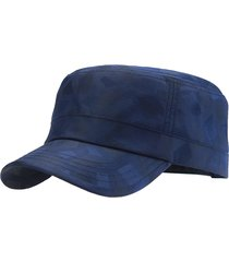 berretto da picco piatto traspirante da uomo quick-dry flat outdoor impermeabile anti-uv plaid sun army hat