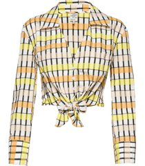 merona blouse lange mouwen geel baum und pferdgarten