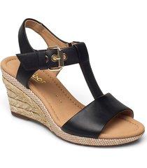 sandal sandalette med klack espadrilles svart gabor