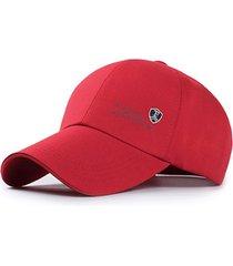 gorra golf bordado fiery algodon unisex - rojo