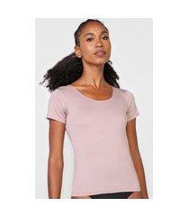 camiseta love secret lingerie segunda pele lisa rosa
