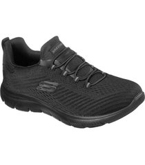 zapatos mujer  summits - fast attraction negro skechers