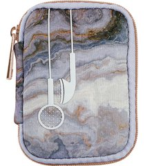 mytagalongs stella earbud case - grey multicolor
