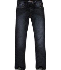 calça jeans masculina reta cinza escuro