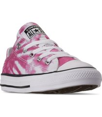 converse big girls chuck taylor all star tie-dye low casual sneakers from finish line