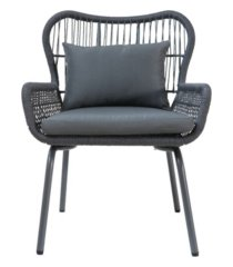 noble house southport outdoor club chairs with cushions, set of 2