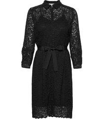 dress 3/4s knälång klänning svart rosemunde