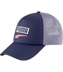 gorra azul puma trucker