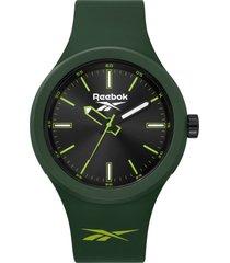 reloj   warm up verde musgo reebok