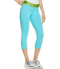 jockey sport leggings sz xl tropical teal blue green sporty capri legging jw0013