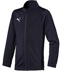 football kids' liga sideline core jacket, blauw/wit, maat 128 | puma