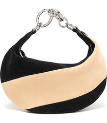 'bougie' colourblock suede slouchy hobo bag