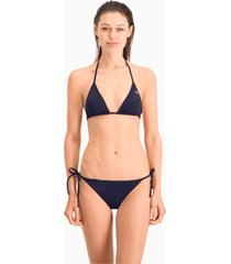 puma swim side-tie bikinibroekje voor dames, blauw, maat l