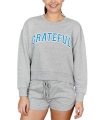 rebellious one juniors' grateful graphic-print sweatshirt
