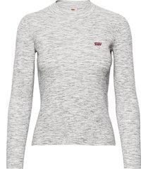 crew rib sweater thunder space stickad tröja grå levi´s women