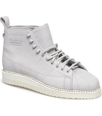 superstar boot w shoes boots ankle boots ankle boots flat heel vit adidas originals