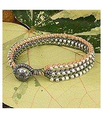 braided wristband bracelet, 'pastel siam melody' (thailand)