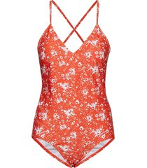 korona swimsuit baddräkt badkläder orange inwear
