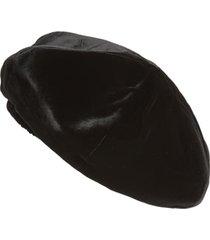 women's saint laurent velvet beret - black