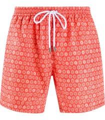 barba floral-print swim shorts - orange