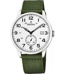 reloj estuche verde festina