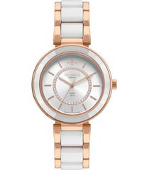 relógio technos elegance 2036mkp/4b 40mm cerâmica feminino