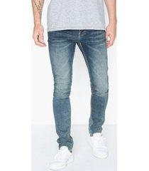 dr denim clark jeans mörk blå