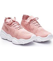 tenis en tela rosa color rosado, talla 40