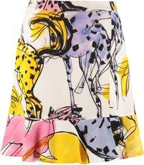 stella mccartney printed crêpe skirt