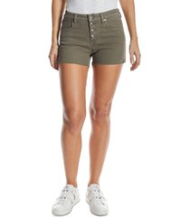 oat high-rise button-fly jean shorts