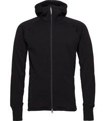 m's power houdi trueblack/trueblack s hoodie trui zwart houdini
