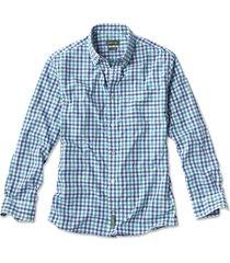 beacon stretch plain weave long-sleeved shirt, blue/multi, xx large