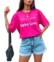 blusa in love t-shirt over regina george pink - pink - feminino - algodã£o - dafiti