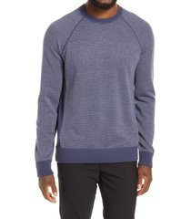 men's vince bird's eye stitch wool & cashmere sweater, size x-large - blue