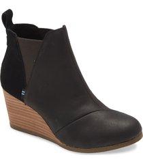 women's toms kelsey wedge bootie, size 8 m - black