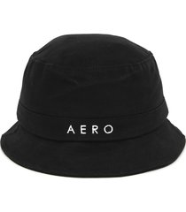 chapéu bucket aeropostale logo preto