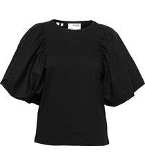 slfadrianna 2/4 tee blouses short-sleeved svart selected femme