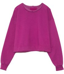 mingle sweatshirt in raspberry