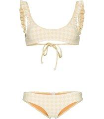 made by dawn petal scoop neck bikini set - yellow