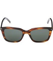 dior homme women's 51mm faux tortoiseshell rectangular sunglasses - havana