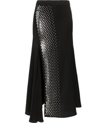 ellery asymmetric studded skirt - black