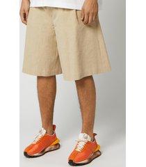 maison margiela men's linen shorts - beige - it 50/l