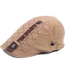 cappotto mens cotton m logo ricamo lettera beret cap casual visor forward cappello regolabile